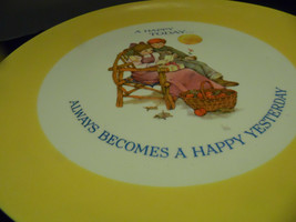 Keepsake Plate Dear Hearts  A Happy Today  Gibson 1973 Display Girl Grand Father - $9.89