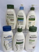 (6) Aveeno Active Naturals Relief Yogurt Body Wash & Sheer Hydration Lot... - $20.89