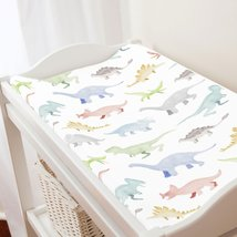 Carousel Designs Watercolor Dinosaurs Changing Pad Cover - $30.69