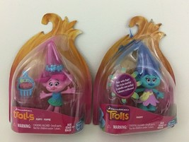Dreamworks Trolls Doll Figures Toy Poppy Maddy 2pc Lot Hasbro 2015 Sealed - $12.82