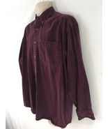 Hudson Trail Outfitters Mens L Purple Wilderness Camp USA Md Cotton Deni... - $39.60