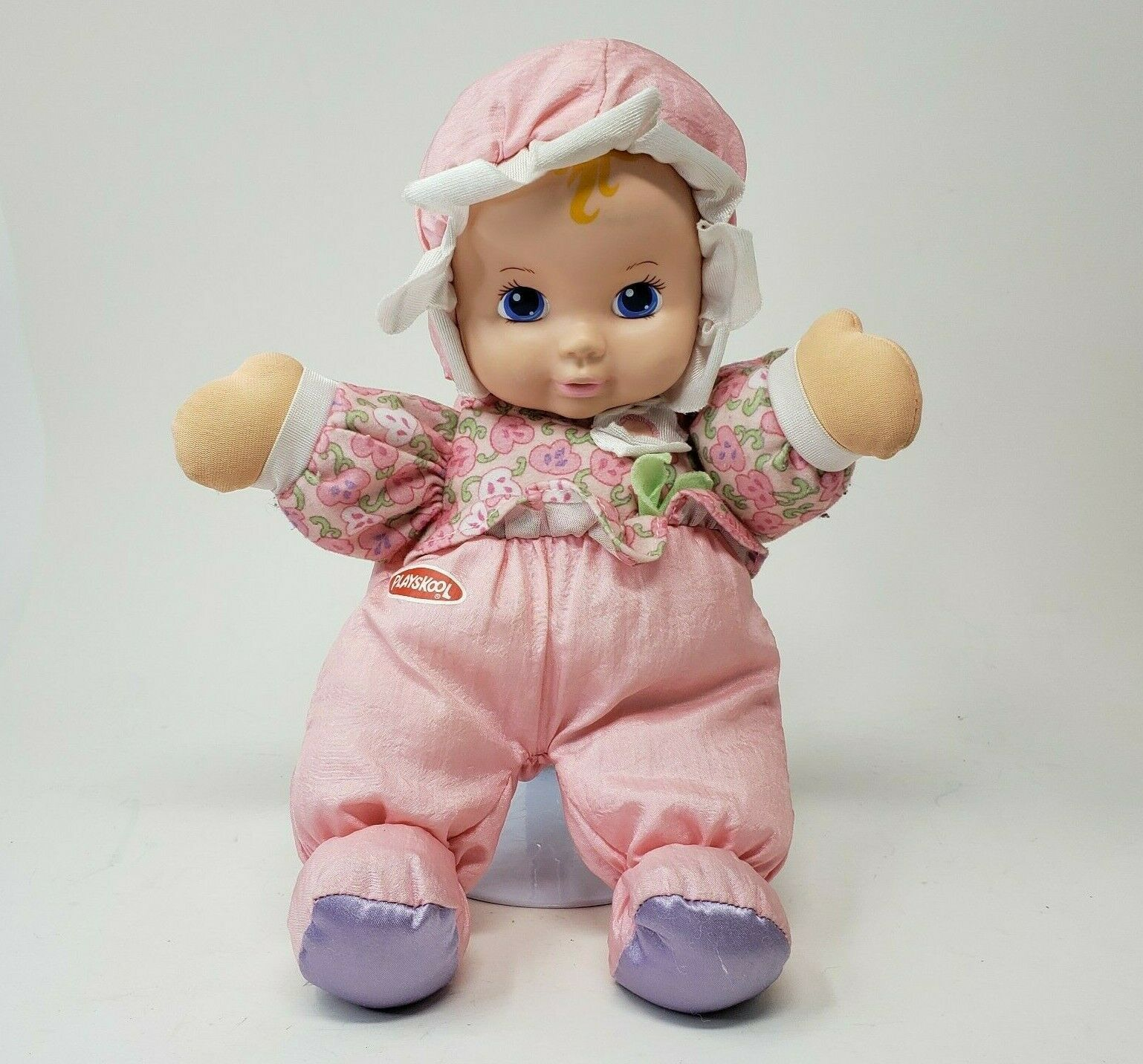Primary image for VINTAGE 1999 PLAYSKOOL MY VERY SOFT BABY PINK STUFFED ANIMAL PLUSH DOLL SQUEAKER