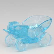 Vintage Novelty Glass LG Wright Blue Carriage Ashtray image 1