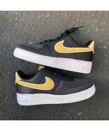 NIKE AIR FORCE 1 '07 SE WOMEN'S BLACK/WHEAT GOLD ATHLETIC SNEAKER AA0287... - $140.00