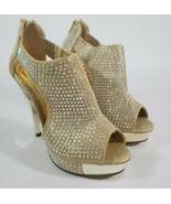Sassy Sexy Brookks Gold Women's Heels Size 5 - $19.95
