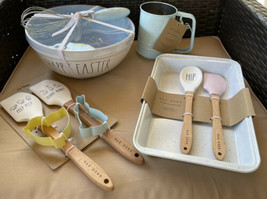 Rae Dunn Blue Easter Mixing Bowl /Whisk Spatulas Cookie Cutters Flour Si... - $71.96