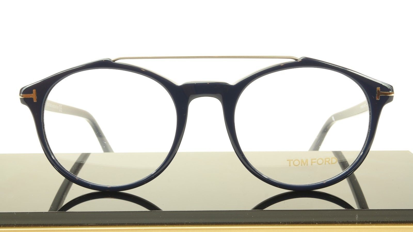 Tom Ford Authentic Eyeglasses Frame TF5455 090 Dark Navy Blue Italy 52-20-145 image 4
