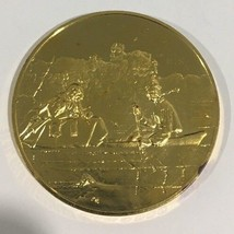 24k Gold On Sterling Silver Fur Traders On The Missouri Medal Coin - $160.00