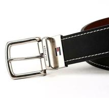 Tommy Hilfiger Men's Reversible Contrast Stitching Leather Belt 11TL08X009 image 7