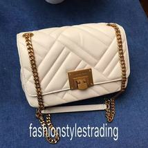 NWT Michael Kors Petyon Quilted Leather Medium Shoulder Flap Bag Chain Crsbody image 13