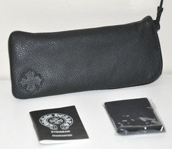 Authentic CHROME HEARTS Sunglasses-Eyeglasses Black Leather Case-Pouch NEW - $106.92