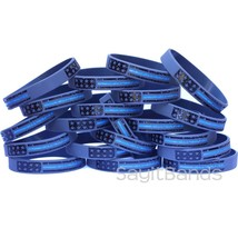 Vintage Flag Thin BLUE Line Wristband Bracelet Set - Police Awareness Ba... - $1.48+