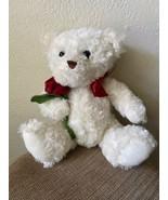 Sweetheart White Teddy Bear Plush By Dan Dee Collectors Choice - $19.70