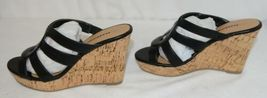 City Classified Layka S Black Sandal Wedge Heel Size 6 And Half image 5