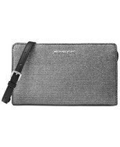 Michael Kors Large Crossbody Clutch (Black/Silver) - £74.61 GBP