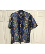 New XL Hawaiian shirt. RJC. Beautiful! Made in Hawaii Tiki boats and hib... - $26.99