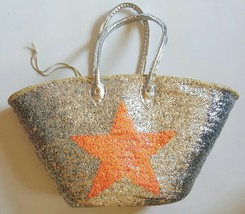 Basket sequined with lovely Tangerine star