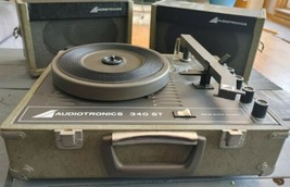 Vintage AUDIOTRONICS 340 ST Portable Stereo Turntable TESTED Working Nee... - $133.00