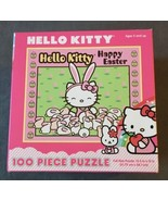 Hello Kitty Puzzle 100 Piece Happy Easter Sanrio New Sealed In Box - $8.91