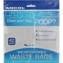 BIODEGRADABLE DOG POO BAGS - ANCOL DOG WASTE PICK UP BAGS - $2.45+