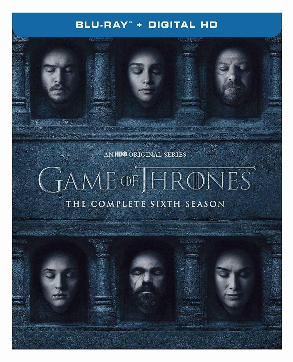 Game Of Thrones: Complete 6th Season (Blu-ray/Digital, Canadian/Plays US) NEW