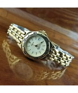 New Womens Geneve Swiss SEL 18K Gold Plated All Steel Dive Watch 660' WR - $250.00