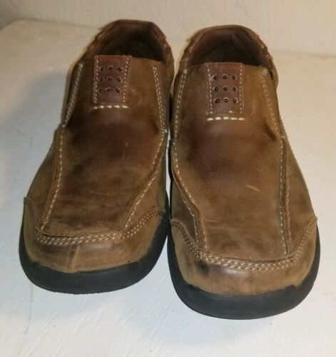 Skechers Leather Loafers Brown Slip On Shoes and 50 similar