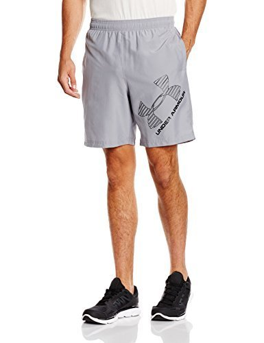 Men's Under Armour Mirage 8 Woven Graphic Short, Steel, X-Large