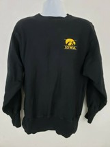 Vintage Champion Iowa Hawkeyes Embroidered Black Reverse Weave Sweatshir... - $29.39