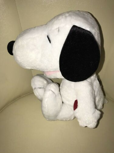 """Peanuts Laughing SNOOPY Plush Toy Doll 14"""" Tall Stuffed White Beagle Dog"""