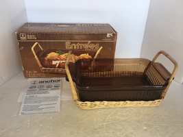 Vintage Anchor Hocking Entrees Amber Cuisine 1 Qt. Loaf Pan Set M1400/ 231 - $6.25