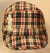 Disney Plaid Checkered Red Black and White Cap Hat  - $13.85