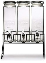Circleware 92011 Triple XL Chalkboard Beverage Dispensers with Stand and... - $48.07