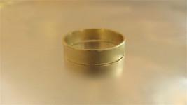 14k Oro Amarillo Alianza para Hombre / Woman.handmade Único Textura Alianza - $433.33