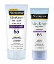 Neutrogena Ultra Sheer Dry-Touch Sunscreen Broad Spectrum SPF 55, 5 fl oz + 3 fl - $18.80