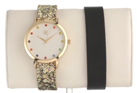 I.N.C. Women's Glitter Faux Leather Strap Watch 36mm with Interchangeable strap image 4