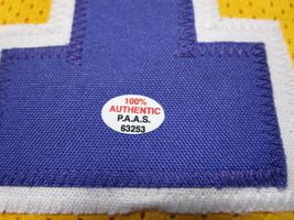 KARL MALONE / NBA HALL OF FAME / AUTOGRAPHED L.A. LAKERS CUSTOM JERSEY / COA image 5