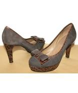 ❤️SCHULER & SON Philadelphia Bow Croc Leather Suede Pump 6.5 B EXCELLENT... - $61.74