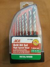 Ace 7 piece High Speed Steel Drill Bit Set Metal/Wood - $7.81