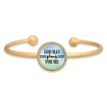 An item in the Everything Else category: Holly Road God Has Plans for Me Gold Cuff Bracelet Jewelry Graduation Gift Jer 2