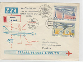 Czechoslavakia 1957 Postal History Stamps Cover Ref: R7759 - $4.98