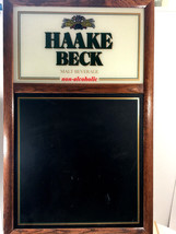 Haake Beck Early Century Vintage Bar Sign (with Black Board) - $37.62