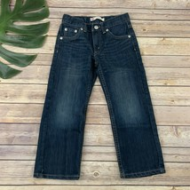 Levis Boys 505 Regular Straight Leg Jeans Size 5 Dark Wash Denim Cotton Blend - $19.79
