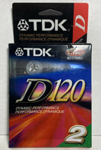 TDK D120 High Output Blank Audio Cassette Tapes - 2 Pack - Sealed - $18.80