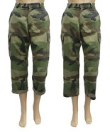 Genuine French Army F2 Issued Vintage Ladies Cropped Camouflage Trousers... - $18.21