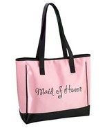Pink Maid of Honor Tote Bag Wedding Bridal Shower Gift Party Embroidered - $17.90
