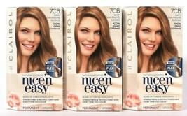 3 Clairol Nice N Easy Repair Plex 7CB Dark Champagne Blonde Permanent Hair Dye  - $26.99