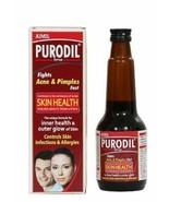 Purodil Syrup blood purifer, acne, pimples, boils, rashes, allergies 200ml - $18.60