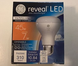 GE Reveal LED R20 45 Watt Bulbs Indoor FloodLight Dimmable 310 Lumens NEW - $15.88