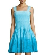 DVF Diane von Furstenberg Dress Lesly Ombre Pleated Chiffon size 14 NEW ... - $201.99